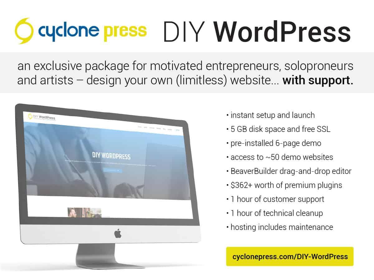DIY WordPress self-hosted website package