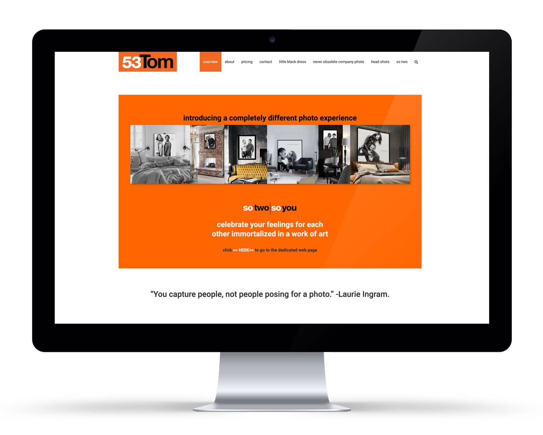 iMac displaying a portrait photographer website DIY WordPress