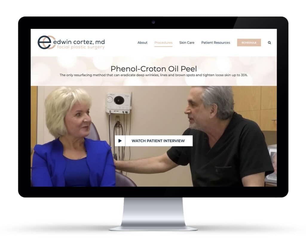 website redesign plastic surgeon overland park kansas