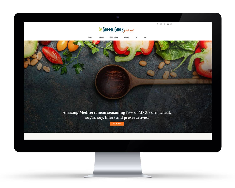 iMac displaying a food product website DIY WordPress