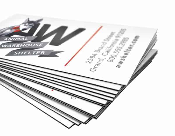 trilayer black white business cards