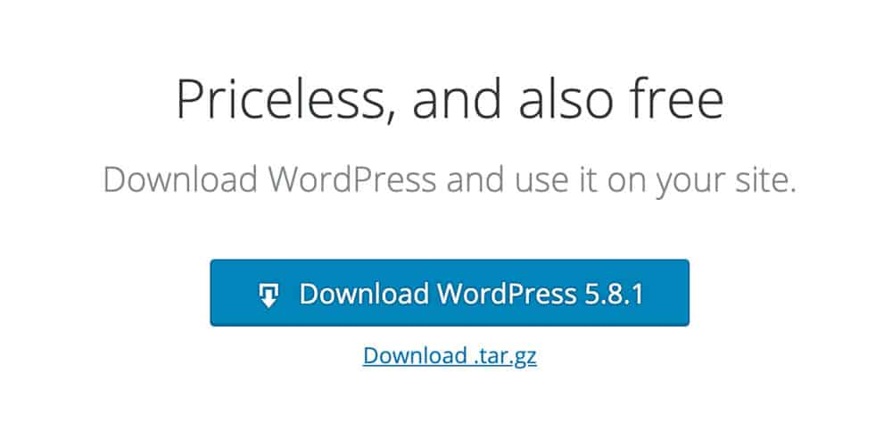 download WordPress button